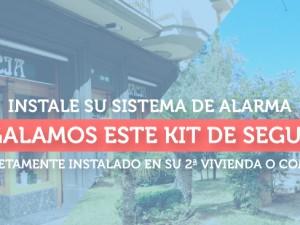 Regalamos este kit de seguridad completamente instalado en su 2ª vivienda o comercio